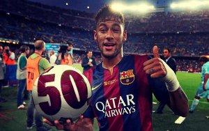 Neymar świętuje 50. mecz w barwach Barçy