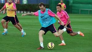 Messi i Neymar dalej ćwiczą poza grupą