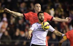 Mathieu w meczu z Valencią
