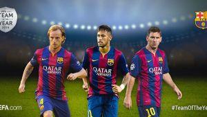 Messi, Neymar i Rakitić nominowani do drużyny UEFA