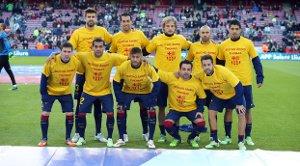 Piłkarze wyszli w koszulkach wspierających Vermaelena