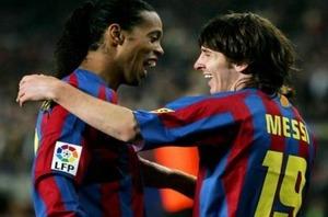 Ronaldinho: Poprosiliśmy Rijkaarda, żeby Messi przyszedł z nami trenować