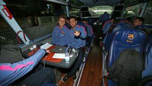 Piłkarze w drodze do Aragonii