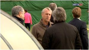 Cruyff na treningu Barçy B