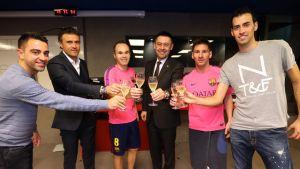 Bartomeu wzniósł toast z piłkarzami