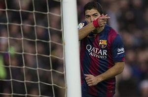 Luis Suarez w meczu z Cordobą