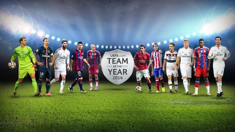 Messi w jedenastce 2014 roku według uefa.com