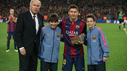 Messi z trofeum za pobicie rekordu Zarry
