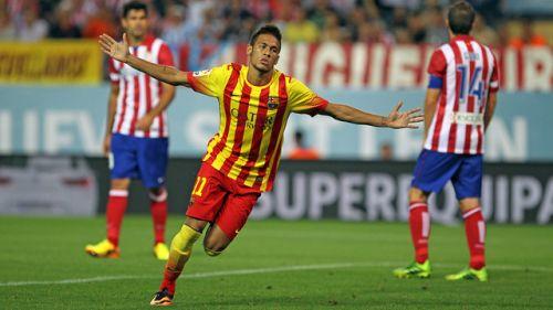 Pierwszy gol Neymara na Calderón