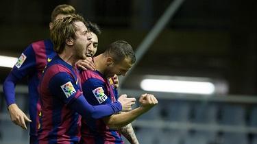 FC Barcelona B – RC Recreativo: Uśmiech na twarzach zawodników rezerw (3:1)