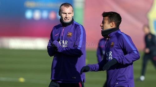 Mathieu trenował z grupą