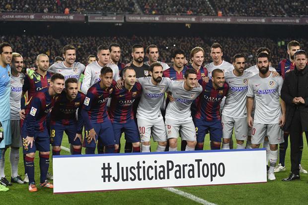 """Barcelona i  Atlético nawołują do """"Sprawiedliwości dla Topo"""""""