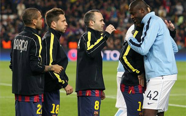 Yaya Touré odwiedził kolegów z Barçy w hotelu