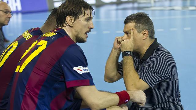 Xavi Pascual i zawodnicy Barcelony