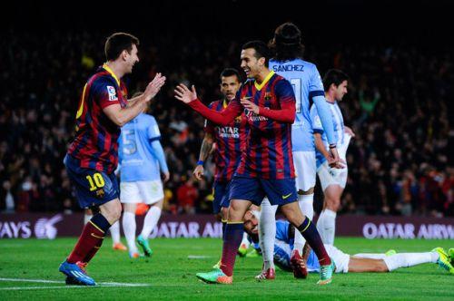 Messi, Pedro, Malaga