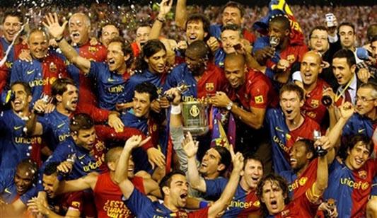 Barcelona radość po zdobyciu Pucharu Króla