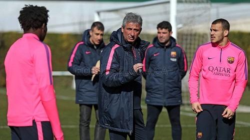Pierwszy trening Vinyalsa z Barçą B