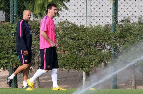 Leo Messi trenuje w wolny dzień