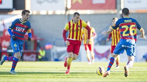 UE Llagostera – FC Barcelona B: Porażka w Palamós (1:0)