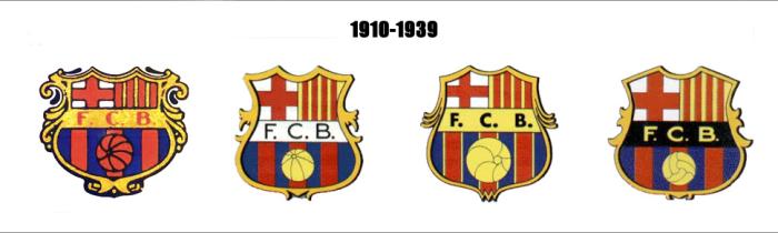 Herby Barcelony w latach 1910 - 1939