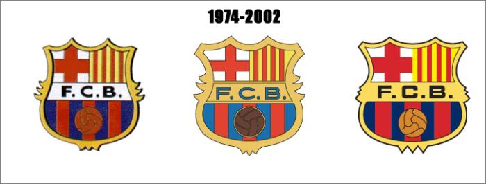 Herby Barcelony w latach 1974 - 2002