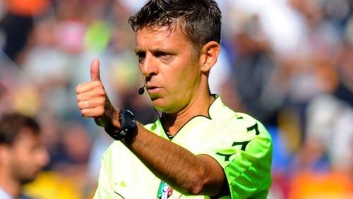 Gianluca Rocchi arbitrem meczu Barça – City