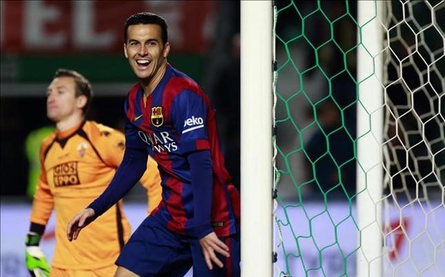 Pedro trzecim najskuteczniejszym napastnikiem Barçy w sezonie