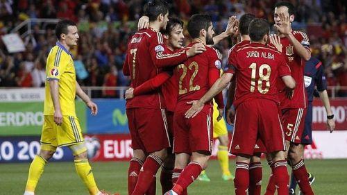Hiszpania wygrywa z Ukrainą
