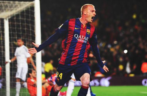 Pierwszy ligowy gol Mathieu w barwach Barçy