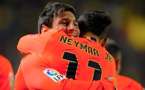 Dobra współpraca duetu Messi-Neymar
