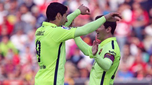 Suarez, Messi, Granada