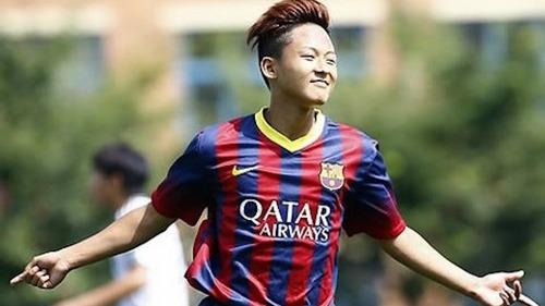 Seung Woo Lee trenuje z Barçą B