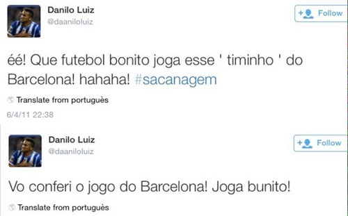 Danilo kibicuje Barcelonie?