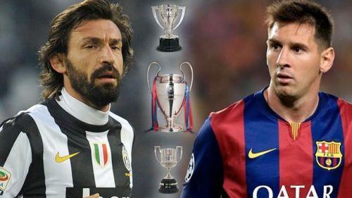 Andrea Pirlo, Leo Messi, Tryplet
