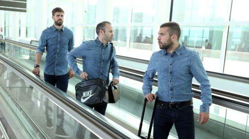 Piłkarze Barçy już na miejscu
