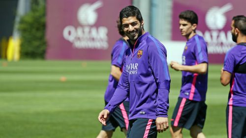 Suárez trenował z grupą