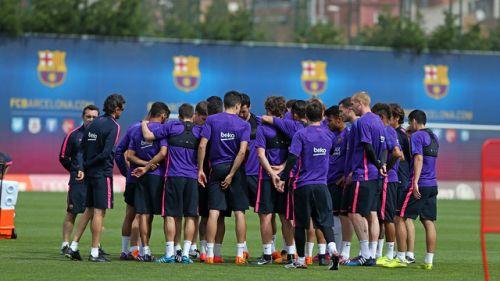 Ostatni trening w Ciutat Esportiva