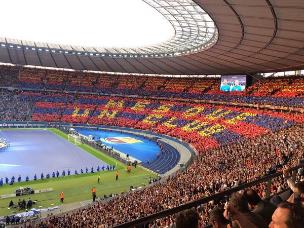 Mozaika Barçy na Stadionie Olimpijskim