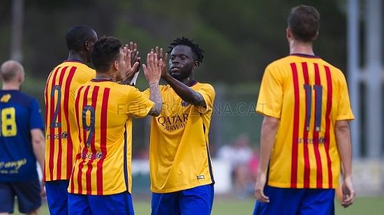 """L""""Escala – FC Barcelona B: Zwycięstwo w pierwszym meczu presezonu (0:3)"""