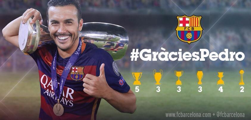 Piłkarze dziękują Pedro na portalach społecznościowych