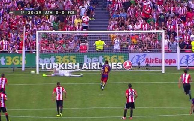 Messi nie wykorzystał 14. rzutu karnego w barwach Barçy