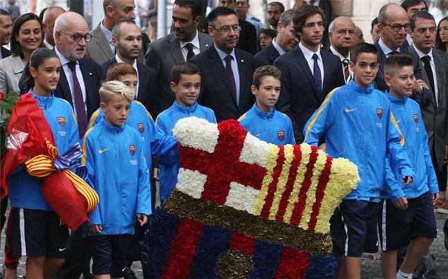 Przedstawiciele FC Barcelony wzięli udział w Narodowym Dniu Katalonii