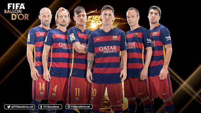 Sześciu piłkarzy Barcelony nominowanych do Złotej Piłki