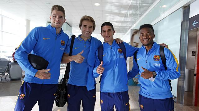 Zawodnicy w drodze do Badajoz