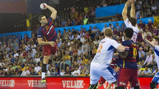 Kiril Lazarov w meczu z Montpelier