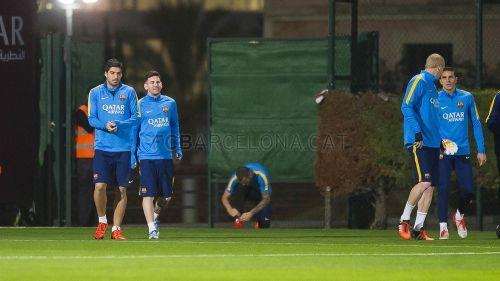 Leo Messi, Rakitić i Ter Stegen trenowali