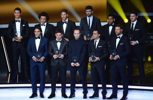 Ośmiu zawodników Barçy nominowanych do drużyny roku