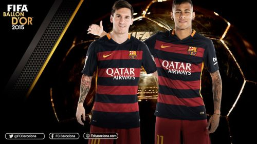 Messi i Neymar na podium Złotej Piłki!