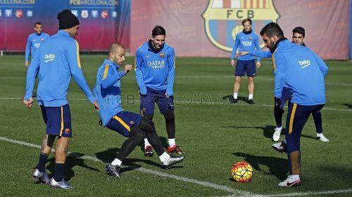 Trening przed meczem z Realem Sociedad