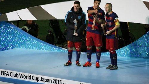 Suárez, Messi i Iniesta najlepsi w Japonii